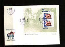 Portugal Azores 1981 Europa Cept Block FDC - Europa-CEPT
