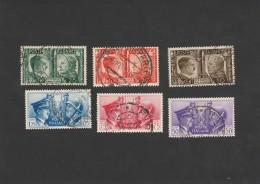 REGNO ITALIA USATI 6 FRANCOBOLLI FRATELLANZA D'ARMI 1941 (FB157 - 1900-44 Vittorio Emanuele III