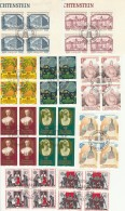 FRANCOBOLLI LIECHTENSTEIN 10 QUARTINE TIMBRO FDC EUROPA (FB176 - Collections