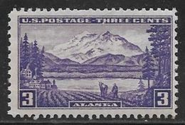 1937 3 Cents Alaska, Mount McKinley, Mint Never Hinged - United States