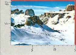 CARTOLINA VG ITALIA - PASSO PORDOI (TN) - Gruppo Del Sassolungo - 10 X 15 - ANN. 1977 NATALE 1976 - Trento