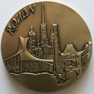 """Médaille. Course Automobile Paris-Rouen """"Les Damiers Du Centenaire"""". Juin 1994. Rallye Historique. 65mm-144gr. - Francia"""