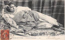 ALGERIE - Femme De CONSTANTINE Fumant Une Cigarette - Scènes Et Types - Judaïca - Signée De SENECLAUZE, Publicité - Constantine