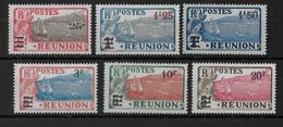 REUNION - YVERT N° 103/108 **/* - SANS CHARNIERE OU CHARNIERE LEGERE - COTE = 58+ EUR. - Unused Stamps