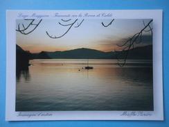 Lago Maggiore - Tramonto Con La Rocca Di Caldè - Castelveccana - Controluce - Controluce