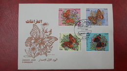 ALGERIE ALGERIA FDC First Day Cover Enveloppe Premier Jour INSECTS INSECTES PAPILLONS BUTTERFLIES BUTTERFLY 1991 - RARE - Schmetterlinge