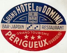 Hotel Label * Grand Hôtel Du Domino * Périgueux (Dordogne) * France - Etiquettes D'hotels