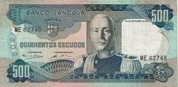 Angola , 1972 , 500 Escudos , Marechal Carmona , Used - Angola