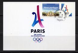 France 2017.Paris.Ville Candidate Jeux Olympiques De 2024..Surchargé Lima 13/09/2017.Sur Papier Photo 10x15 - Used Stamps