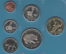 Sovereign Nation Of Los Coyotes Indians COIN SET 6 MONNAIES 1 CENT- 1 DOLLAR 2011  UNC ANIMALS - Etats-Unis