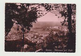 GENOVA - PANORAMA DEL RIGHI - VERA FOTOGRAFIA - VIAGGIATA 1951 VERSO RIO DE JANEIRO  - ITALY POSTCARD - Genova