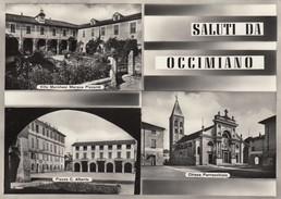 8698-OCCIMIANO(ALESSANDRIA)-CHIESA PARROCCHIALE-1954-FG - Gruss Aus.../ Gruesse Aus...