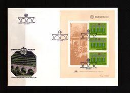 Portugal Madeira 1984 Europa Cept Block FDC - Europa-CEPT