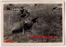 Photo Originale Luftwaffe KG 27 Tours Parcay Mesaly 1940 1939-1945 - 1939-45