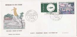 COTE-D'IVOIRE / FDC / ABIDJAN 1969 / GRAND-BASSAM - MONUMENT AUX PIONNIERS / 2 Timbres - Ivoorkust (1960-...)
