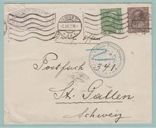 AUT.6  Zensur 14-18. Wien 2.12.15 + Zensur Feldkirch  Verso= St-Gallen 8.12.15 - 1850-1918 Empire