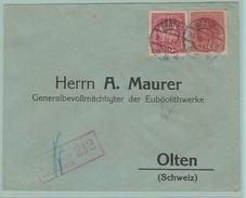 AUT.6  Zensur 14-18.  Wien 24.11.17 + Zensur Feldkirch N°212 Verso= Olten 1.12.17 - 1850-1918 Empire