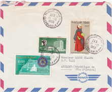 MAROC / Marcophilie (Lettre) / 1969 / Par Avion / By Air Mail / 3 Timbres (Stamps) - Marokko (1956-...)