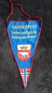 FANION BRODE HAMMERFEST VERDENS NORDLIGSTE BY BREDDEGRADER BLASON AVEC OURS POLAIRE ? - Obj. 'Remember Of'