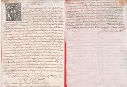Documento Notarile Su Carta Bollata Da 10 Soldi Repubblica Di Genova. Rapallo 1782 - Vecchi Documenti