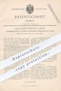 Original Patent - Sally Adolf Rosenthal , Berlin , 1887 , Platte Für Am Tisch Befestigte Nähmaschine | Nähmaschinen !!! - Documents Historiques