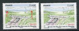 France - Variété - N°Yvert 4861, Dunes En Demi Bleu + Normal En Vert , Neufs Luxe  - Ref V161 - Errors & Oddities