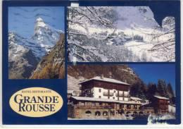 RHEMES-NOTRE-DAME, Valle D'Aosta, Hotel Ristorante GRANDE ROUSSE, Viaggiata, Belle Francobollo - Italia