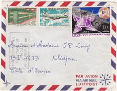 République Centrafricaine / Marcophilie (Lettre) / 1969 / Par Avion / Via Air Mail / 3 Timbres (Stamps) - Centraal-Afrikaanse Republiek