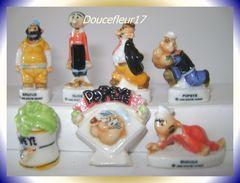 Popeye B ... Lot De 7 Fèves  ...Ref AFF : 4-1998 .. (pan 0036) - Cartoons
