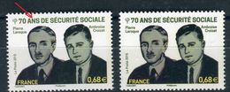 France - Variété - N°Yvert 4981 , Légende En Vert Clair + 1 Normal Vert Foncé , Neufs Luxe  - Ref V167 - Errors & Oddities