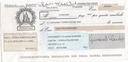 CAMBIALE - CON MARCA DA BOLLO ELETTRONICA EURO.  5,54 E FRANCOBOLLO. EURO. 0,5 - Cambiali