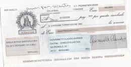 CAMBIALE - CON MARCA DA BOLLO ELETTRONICA EURO.  5,64 E FRANCOBOLLO. EURO. 0,5 - Cambiali