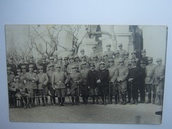 FA 182 FOTOGRAFIA  GRUPPO DI UFFICIALI DEI CARABINIERI IN PICCOLA TENUTA E UNIFORME GRIGIOVERDE 1915 - War, Military