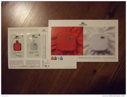 Lacoste Parfum Carte Avec 2 Different Patch - Perfume Cards