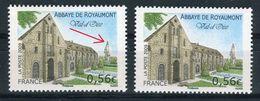 France - Variété - N°Yvert 4392, Clocher Bleu + 1 Normal Blanc , Neufs Luxe  - Ref V173 - Varietà: 2000-09 Nuovi