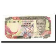Zambie, 5 Kwacha, Undated (1989), KM:30a, NEUF - Zambie