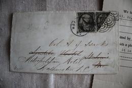 Timbres Oblitération U.S.A 1863 Enveloppe Timbré  2c , Black, Scott 73 Et 73a - Amérique Centrale