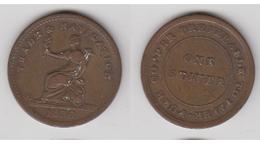 1838 STIVER BRITSH GUINEA ~ COLONIAL JETON ~ COMMERCE ET NAVIGATION - Royaume-Uni