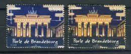 France - Variété - N°Yvert 3810 , 1 Fond Bleu + 1 Normal Bleu Noir, Neufs Luxe  - Ref V178 - Abarten: 2000-09 Ungebraucht