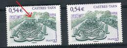 France - Variété - N°Yvert 4079 , 1 Exemplaire Avec Une Bande Blanche + 1 Normal , Neufs Luxe  - Ref V184 - Abarten: 2000-09 Ungebraucht