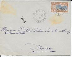 REUNION - 1925 - ENVELOPPE De SAINT DENIS Avec TAXE ? => MONACO - DESTINATION ! - Réunion (1852-1975)