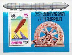 Bhutan MNH SS - Zeppelins