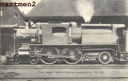 NEW-JERSEY CENTRAL EXPRESS LOKOMOTIVE RAILWAYS LOCOMOTIVE TRAIN ZUG BAHNHOF TRENO LOCOMOTORA BAHN - Trains