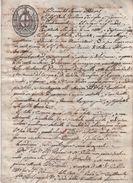 Documento Su Carta Bollata Da 16 Soldi Repubblica Ligure. Rapallo 1803 - Collezioni