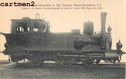 TENDERLOKOMOTIVE PREUSS. PRUSSE LOCOMOTIVE TRAIN ZUG BAHNHOF TRENO LOCOMOTORA BAHN DEUSCTHLAND - Trains