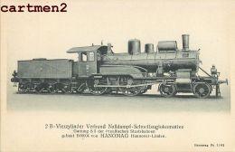 LOKOMOTIVE HANOMAG HANNOVER LOCOMOTIVE RAILWAYS TRAIN ZUG BAHNHOF TRENO LOCOMOTORA BAHN DEUSCTHLAND - Trains