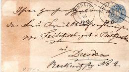 """Preußen Amtl. GZS-Umschlag Wst. """"Adler In Ellipse"""" U 27Aa 2 Sgr. Hellultramarin St. GOERLITZ - Preussen"""