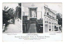 CPA MONACO Deutsche Evangelische Kirche Im Fürstentum La Condamine 49 Rue Grimaldi - Monaco