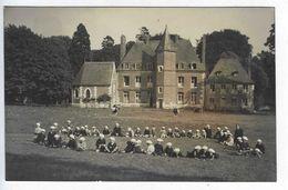 CPA Carte Photo Normandie Colonie De Vacances Août Septembre 1932 Château Des Aleurs Eslette - Maromme