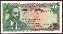 KENYA - 10 SCHILLING Mzee Jomo Kenyatta - 01/07/1976 - Neuf - Kenia
